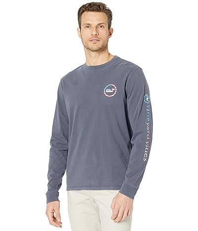 Vineyard Vines Long Sleeve Garment Dyed USA Whale Dot T-Shirt