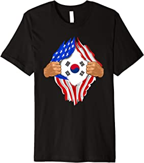 South Korean Blood Inside Me T-Shirt   South Korea Flag Gift