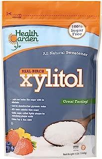 Health Garden Birch Xylitol Sugar Free Sweetener, All Natural Non GMO (Not from Corn (3 Lb)