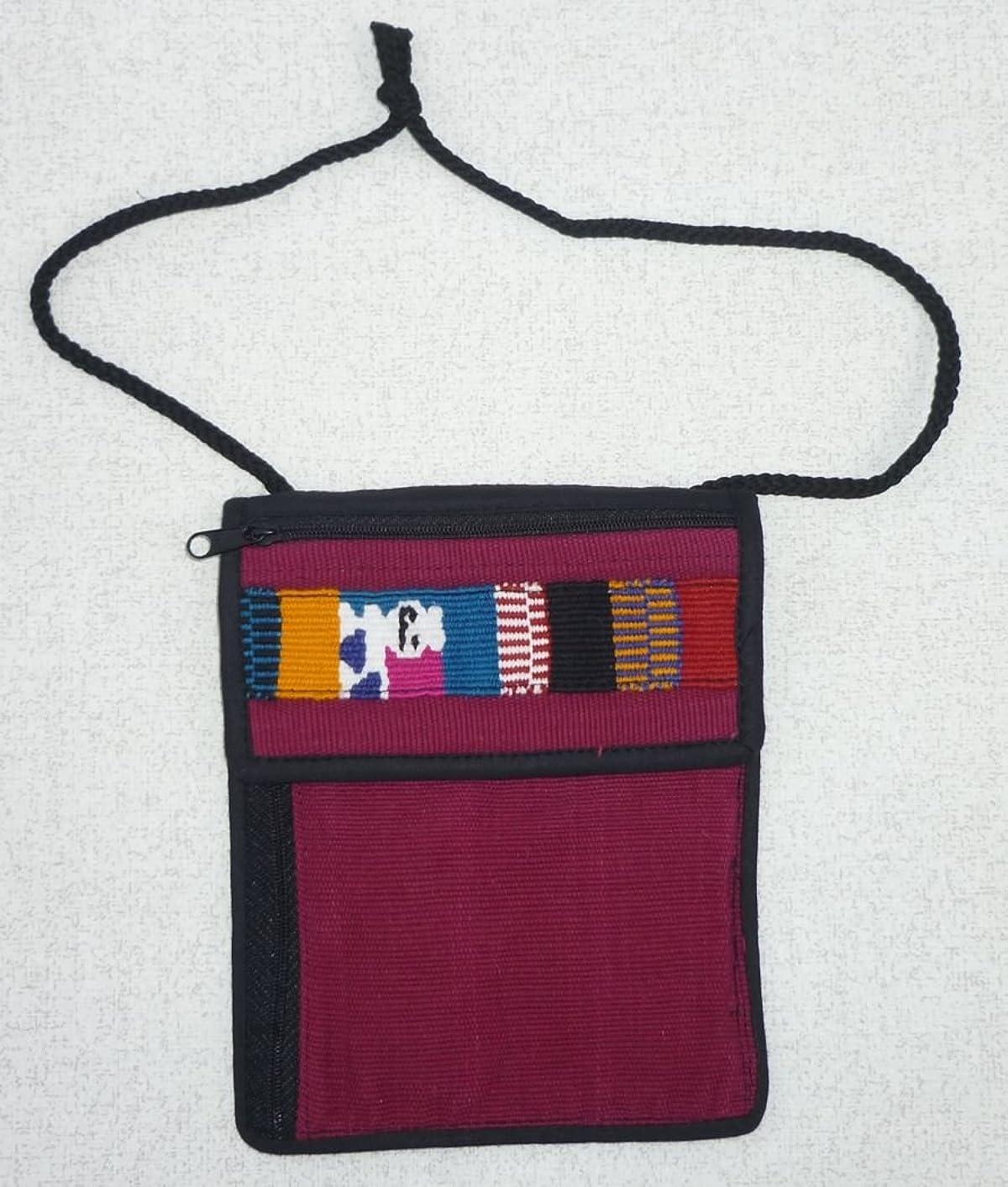 芝生ガイダンス敬なグアテマラ ひも付き財布 民族織物付 GU-011-4