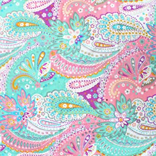 iNee Paisley Sewing Fabric by The Yard, 100% Cotton, 2 Yards