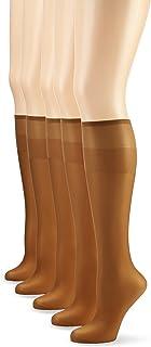 Nur Die, Pack de 5 calcetines para mujeres, color marrón (bronze 213), talla única