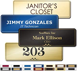 """Best Name Plate for Door, Office, Wall, Customized and Personalized, Laser Engraved, 2 1/2"""" x 8"""" - Prestige Collection by My Sign Center, B123101 Review"""