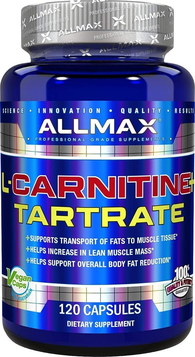 無秩序うっかり肉のAllMax Nutrition - L カルニチン + 酒石酸 - 120ビーガン キャップ