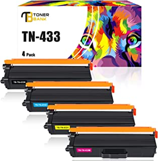 Best Toner Bank Compatible Toner Cartridge Replacement for Brother TN433 TN-433 TN433BK TN431 MFC-L8900CDW for Brother HL-L8360CDW MFCL8900CDW HLL8360CDW HL-L8260CDW MFC-L8610CDW HLL8360CDWT Toner (4-Pack) Review