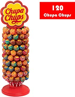 Chupa Chups Display with 120 Assorted Lollipops