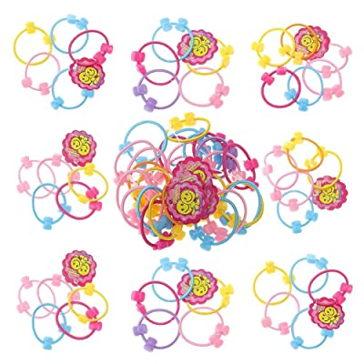 50 pieces Baby Hair Ties Elastic Rubber Bands P...