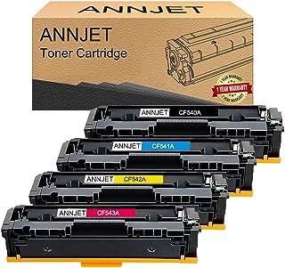 ANNJET 4-Pack 203A CF540A CF541A CF542A CF543A 203X CF540X HP Compatible Toner Cartridges for HP Color Laserjet Pro MFP M2...