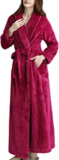 HX fashion Pajama Men's Winter Long Sleeve V-Neck Thicken Warm Coral Comfortable Sizes Fleece Long Dressing Gown Trendy So...