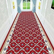 WX&QIANG Red Runner Rug, Neutral Modern, Shabby Chic, Anti Slip Soft Touch, Trendy Design Home Carpet Runner Creativity, F...