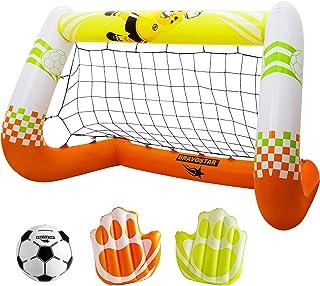 BravoStar Kids Soccer Goal, Inflatable Goal with Soccer...
