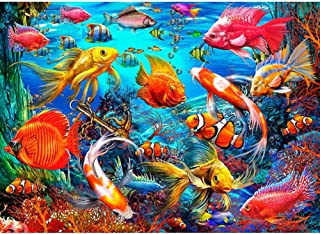 【Mother's Day Gift】5D DIY Full Drill Diamond Painting Sea Ocean Fish Cross Stitch Embroidery