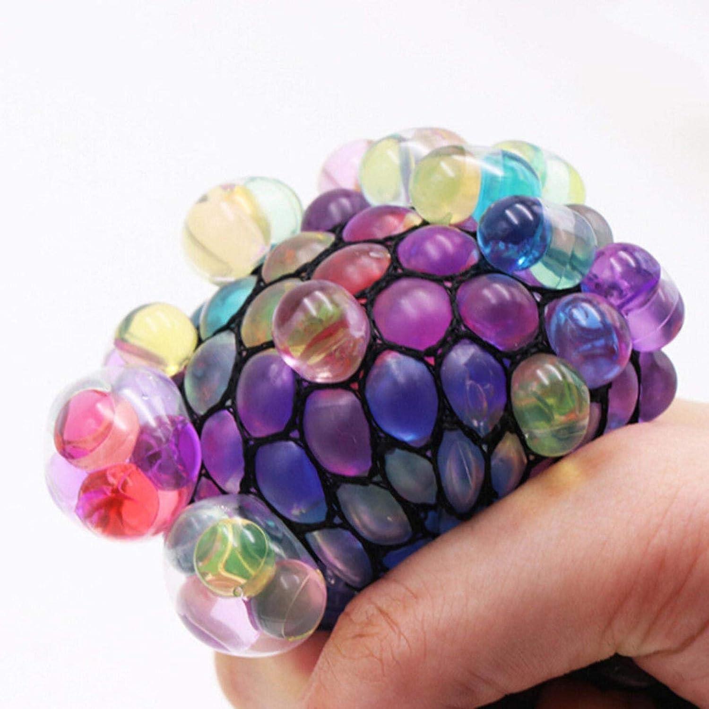 circulor-123 Squishy Squeeze Balls Juegos De Pelotas Globos para Ni/ños /& Adultos De Bolas De Pressage De Ansiedad Anti Stress Bal/ón Mesh Squishy Squeeze Balls