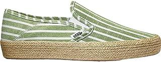 Vans U Slip-On ESP Casual Boot, Striped Linen Garden Green/True White, VN0A3MVBVT2-8.5 US/10 US