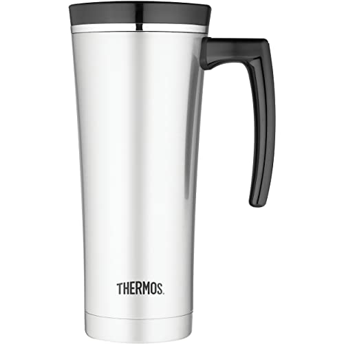 1ee4ff55d58 Thermos Stainless Steel Travel Mug, Black/Silver, 470 ml