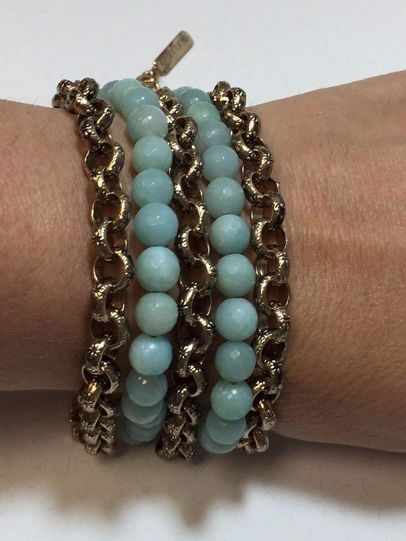 Designer Nest Face Amazonite Statement Pla Bronze 14kt Max 41% All items free shipping OFF Bracelet