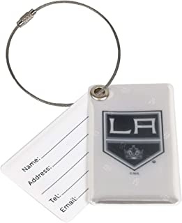 Finnex Reflectors Official NHL Los Angeles Kings Reflective Luggage Tag   Provides High Visibility Safety While Travelling