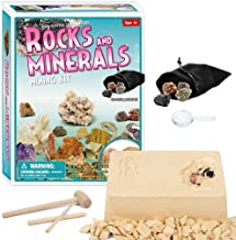 XXTOYS Rock Mineral Gems Dig Kit for Kids Dig up 5 Rocks and Minerals Mining Kits Mineralogy Geology Science Gift Excavation Toys for Kids