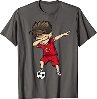 Dabbing Soccer Boy Turkey Jersey Shirt - Turks Football Gift