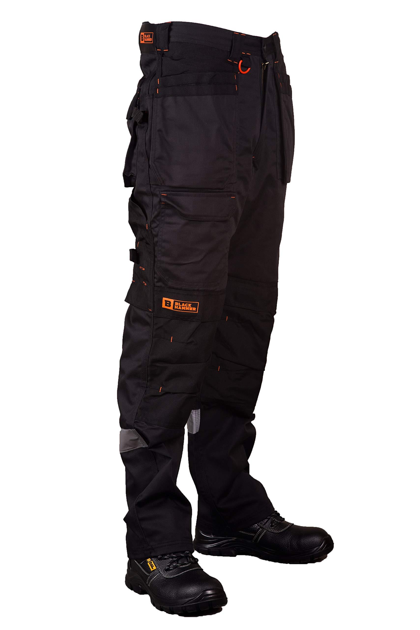 Pantalon de Travail pour Hommes, Ultra Solide avec Multiples Poches, triples Coutures Cordura pour renforcer Les Points de contrainte, Poche Genou rembourrée
