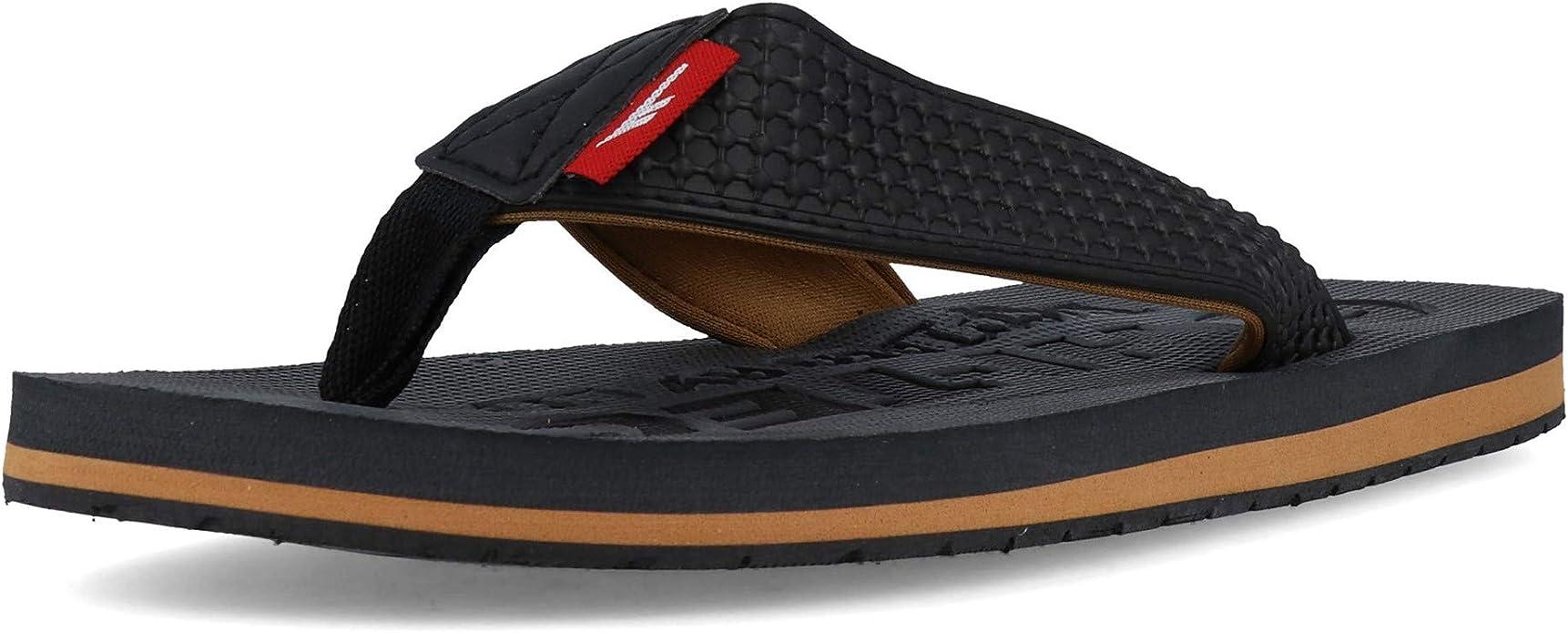 Hi-Tec Mens Shadow Thong Shoes Sandals Black Grey Sports Breathable Lightweight
