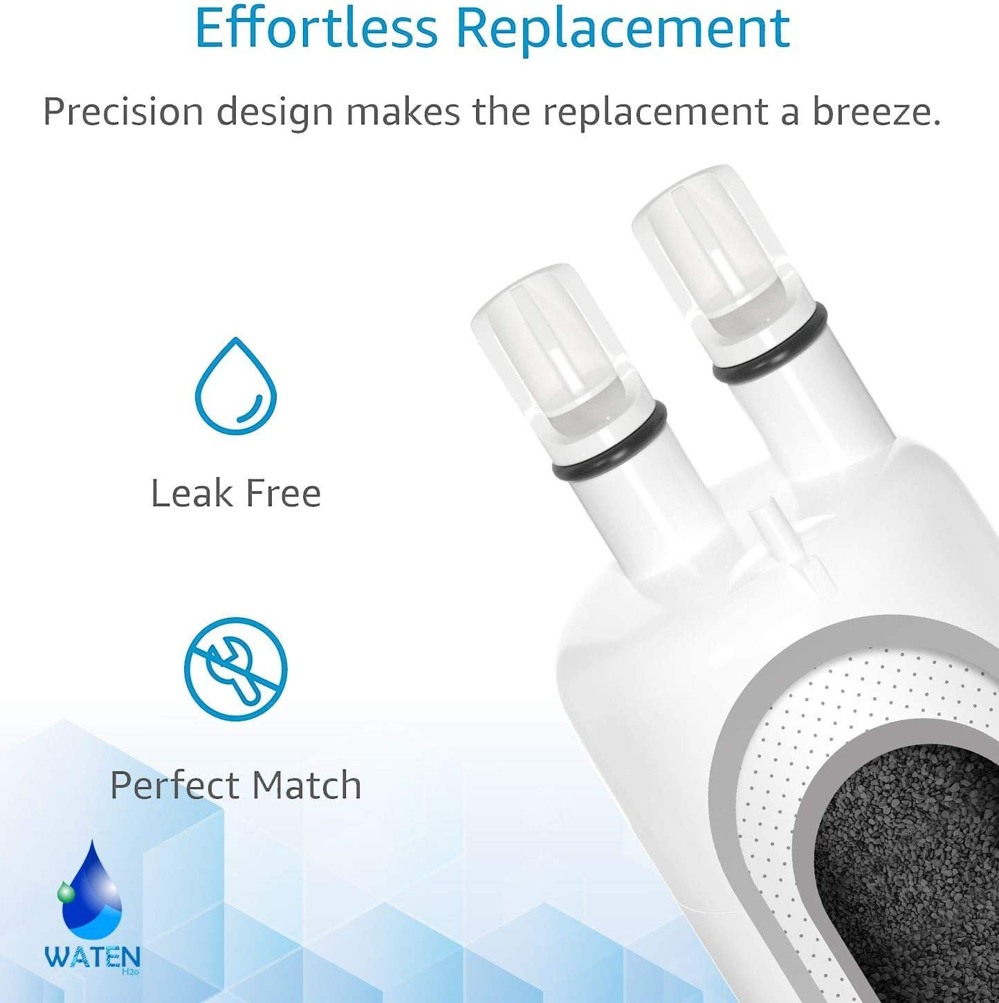 W10295370a Water Filter Cap Replacement Compatible with EDR1RXD1 W10295370a Filter 1,Kenmore 46-9081 46-9930 Water Filters 3//Packs