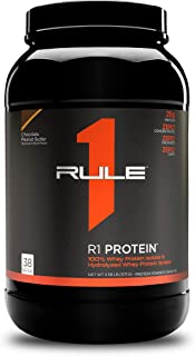 Rule One Proteins, R1 Protein - Chocolate Peanut Butter, 25g Fast-Acting, Super-Pure 100% Isolate and Hydrolysate Protein ...