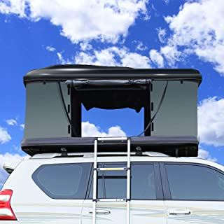 Portable Waterproof Car Rear Tent Outside Camping Shelter Outdoor Car Tent Trailer Tent Roof Top for Beach,Black Shell Arm...
