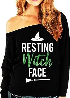 NoBull Woman Apparel Resting Witch Face Halloween Sweatshirt