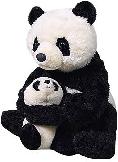 Wild Republic 19398 Mom and Baby Panda Plush Stuffed Animal, Toy