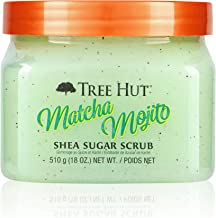 Tree Hut Shea Sugar 磨砂膏 Matcha Mojito,18盎司,超保湿和去角质磨砂膏,滋养身体基础护理