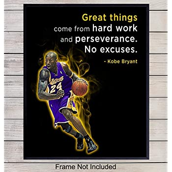 Amazon Com Kobe Bryant Poster Quote Black History Month