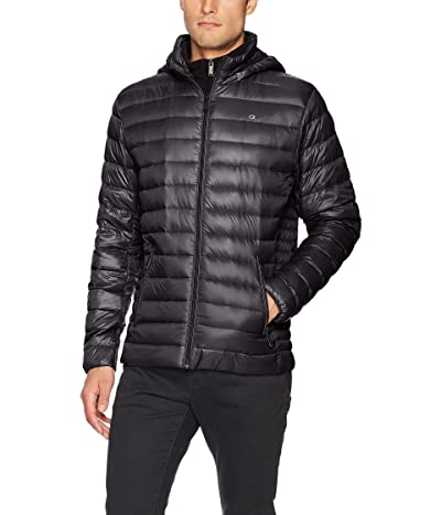 Calvin Klein Lightweight Packable Down Jacket With Fleece Bib and Removable Hood
