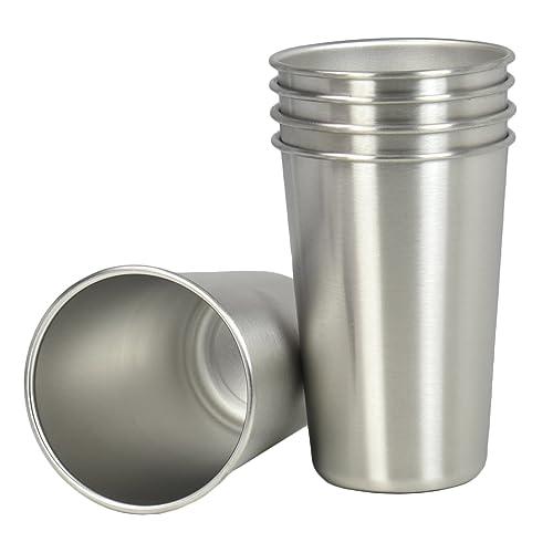 VIVO Steel Tumbler, 16oz BPA Free Glass, Set of 5 (CUP-SS05)