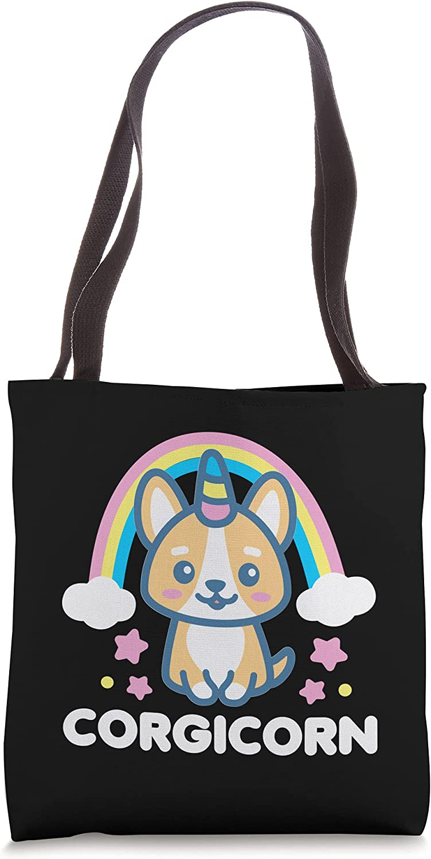 Corgicorn Unicorn Corgi Lover Rainbow Dog Kawaii Dark Tote Bag
