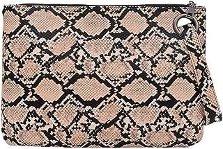 Women Large Snakeskin Clutch Handbag Python Leather Wristlet Handbag Purse