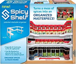 Spicy Shelf Spice Rack and Stackable Organizer 1 Set of 2 shelves