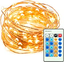 TaoTronics 33ft 100 LED String Lights TT-SL036 Dimmable with Remote Control, Waterproof Decorative Lights for Bedroom, Patio, Garden, Parties, Wedding. UL588 and TUVus Approved(Warm White)