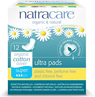 Natracare Organic And Natural Ultra Super Pad with Wings - 12 x Packs of 12 Pads (144 Pads) by Natracare