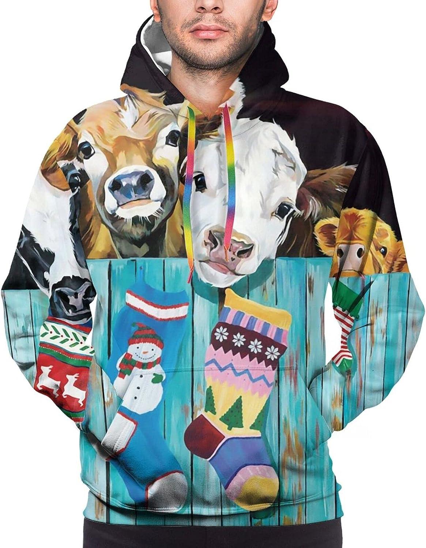 Hoodie For Mens Womens Teens Cow Family Socks Hoodies Fashion Sweatshirt Drawstring