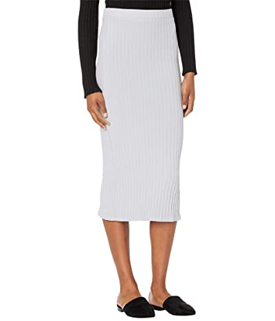 LAmade Hewitt Chunky Rib Skirt (Heather Grey) Women