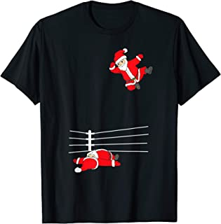 Funny Christmas Santa Wrestling Xmas T-Shirt