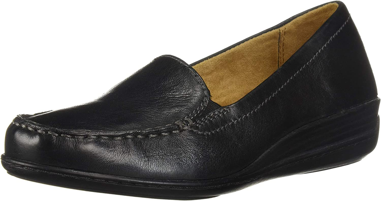 SOUL Naturalizer Women's WILAMINA Loafer Black Leather 9.5 W US