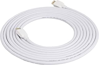 AmazonBasics High Speed 1.4B HDMI Cable - Supports Ethernet, Full HD 3D, 4K HDR and ARC (4K@60Hz, 18Gbps) - 15 Foot, White