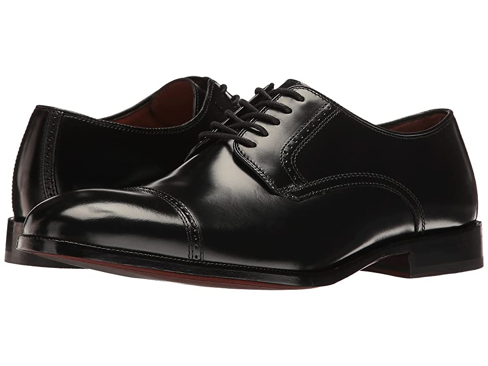 Edwardian Men's Shoes- New shoes, Old Style Johnston  Murphy Bradford Dress Cap Toe Oxford Black Brush-Off Mens Lace Up Cap Toe Shoes $129.95 AT vintagedancer.com