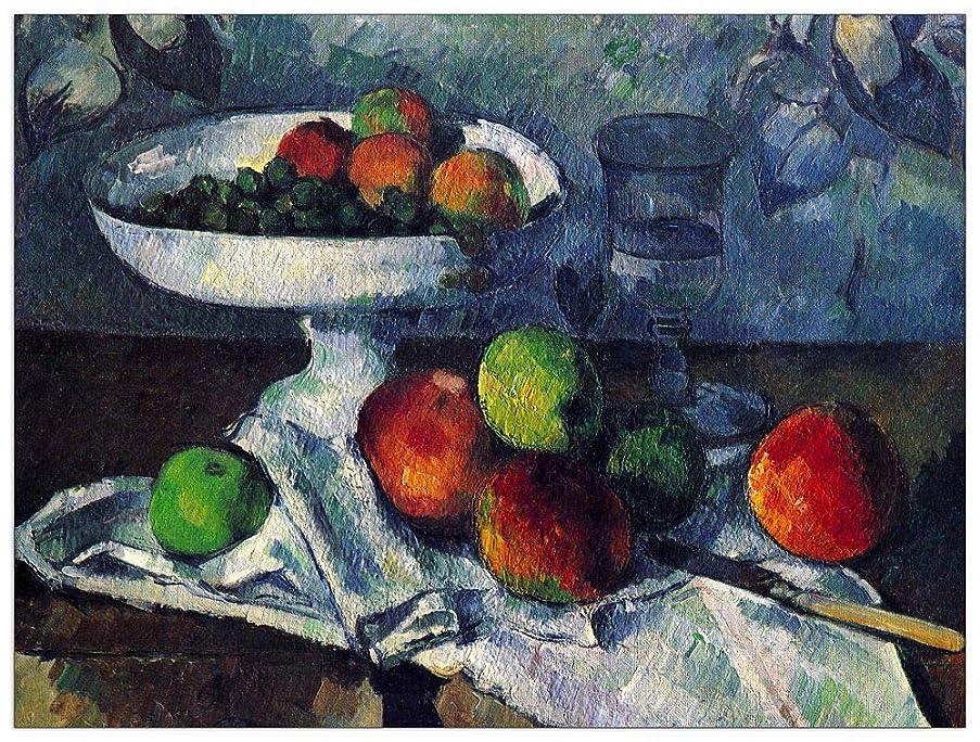 ArtPlaza TW92180 Cezanne Paul-Still Life with Fruit Bowl Decorative Panel, 35.5x27.5 Inch, Multicolored