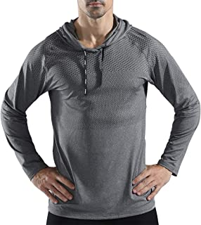 Mens Gym Workout Active Muscle Bodybuilding Long Sleeve Hoodies Casual Hooded Sweatshirts