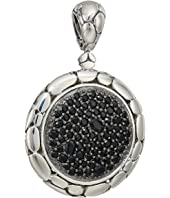 John Hardy - Kali Purelavafire Medium Round Pendant Necklace with Black Sapphire