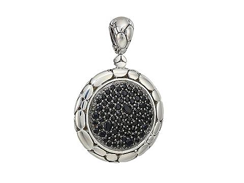 John Hardy Kali Purelavafire Medium Round Pendant Necklace with Black Sapphire