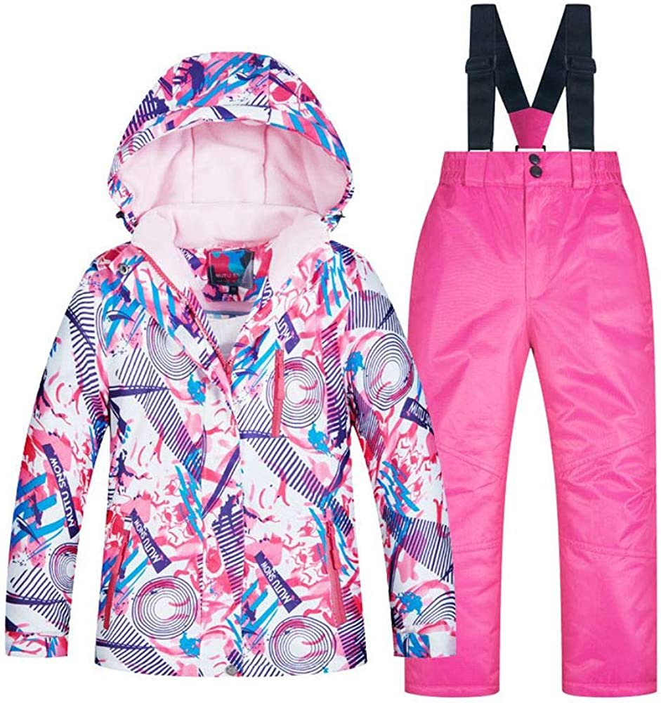 CongYunGe Manufacturer regenerated product Popular products Big Girls Ski Jackets Waterpro Pants Windproof and Set